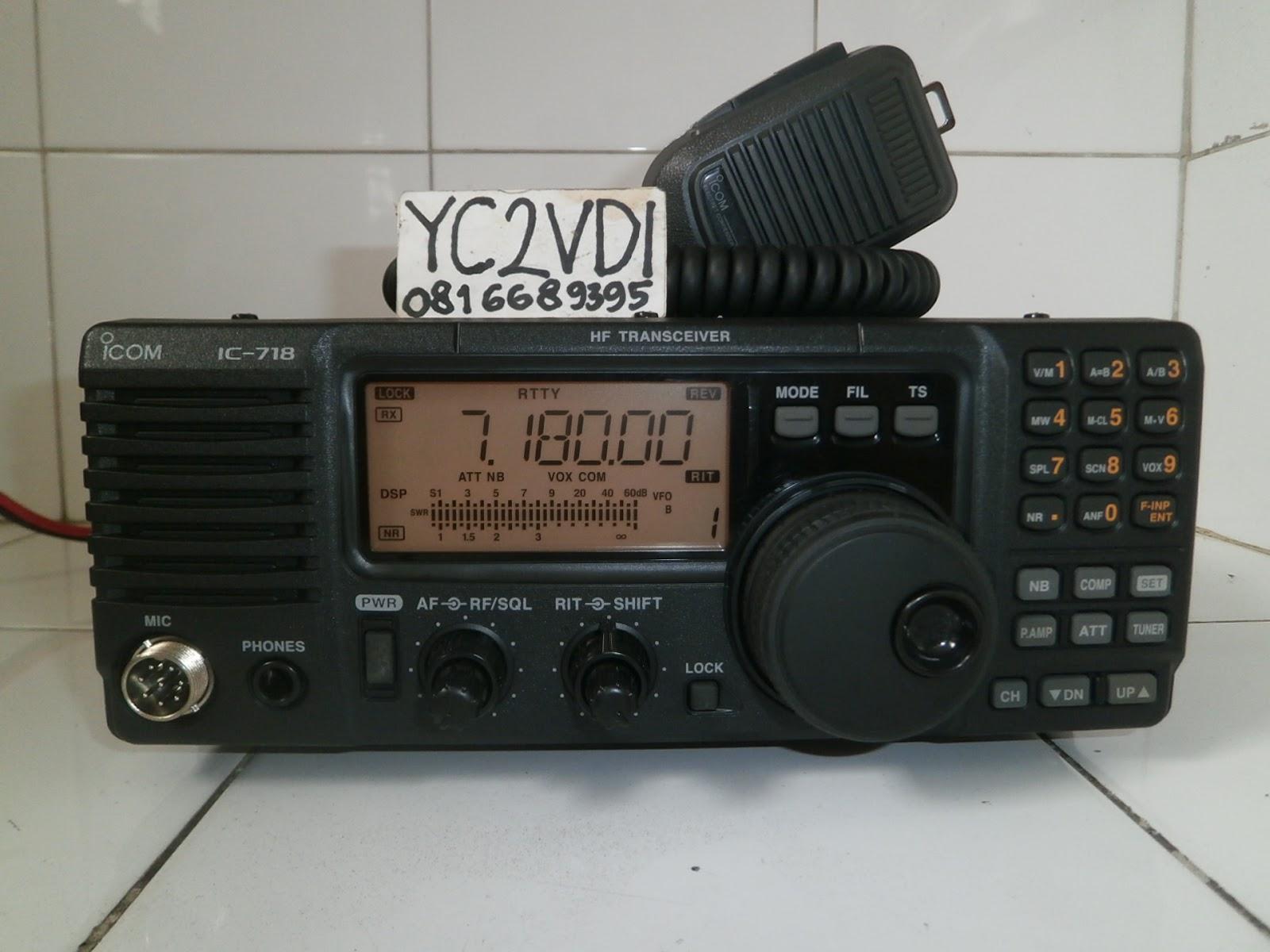 Icom 718 Service: Radio: HF ICOM IC-718 (TERJUAL – yasminroohi