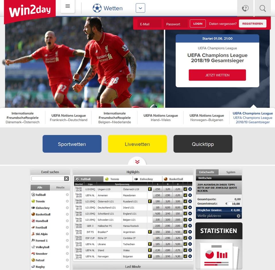 Win2day Screen