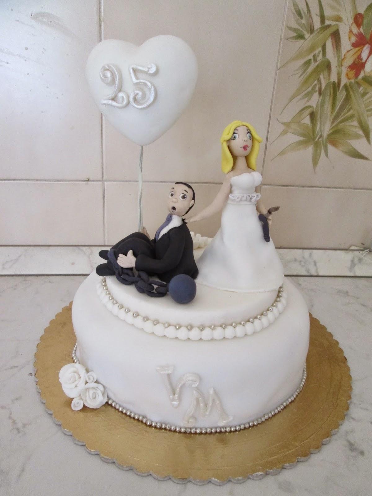 Estremamente Candy Cake Sabri: torta 25 anni di matrimonio YS26