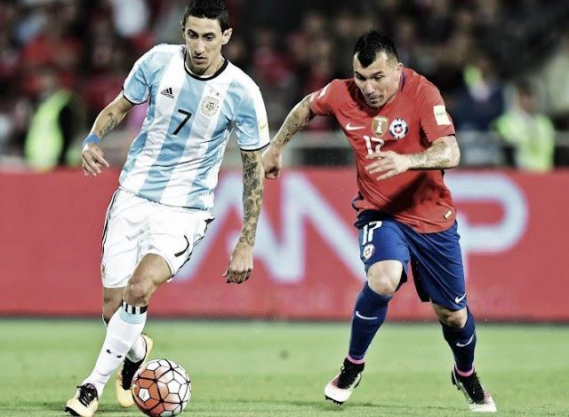 Argentina vence o Chile no dia Di María