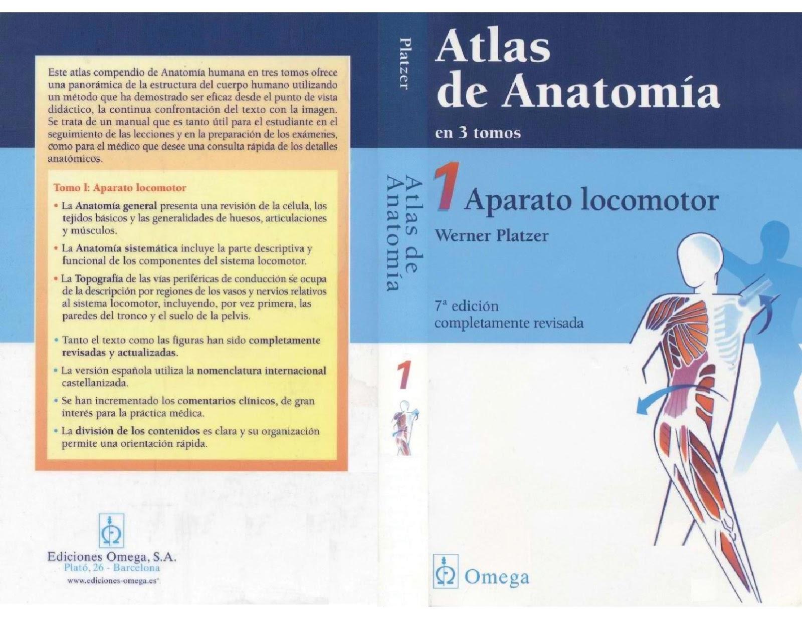 De Ciencia Interés: Atlas de Anatomía (Vol. 1, 2 y 3) - Werner ...