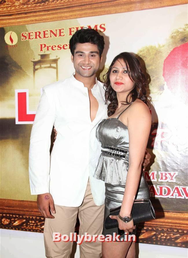Sourav Roy and Veola Singh,  Vidya Malvade at Luv Phir Kabhi Movie Launch