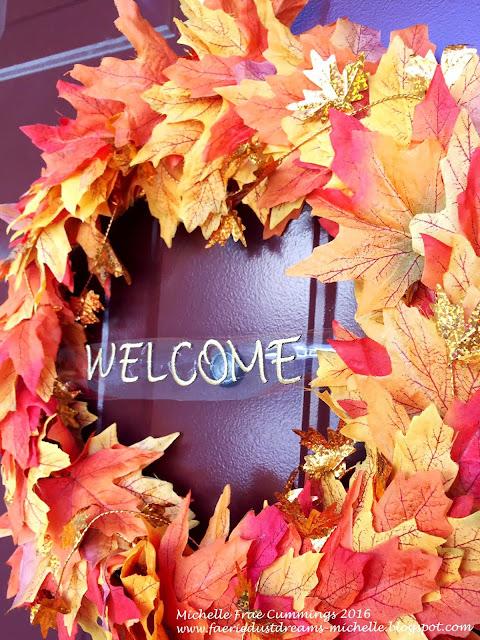 fall crafts leaf wreath
