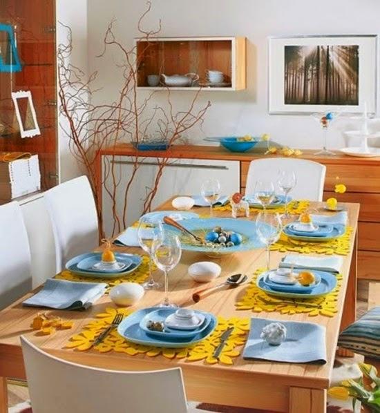 mesa almoço páscoa