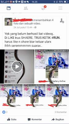 Cara memunculkan ular di layar android