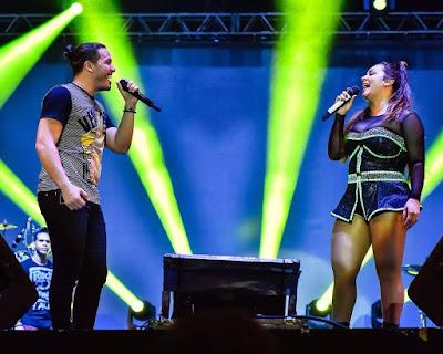 Wesley Safadão grava música de trabalho em parceria com Márcia Fellipe.