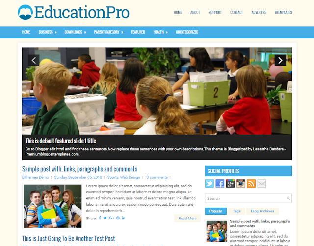 EducationPro  Blogger Template