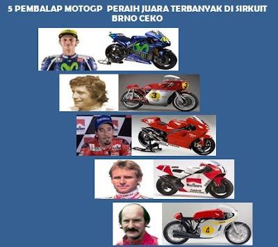 daftar 5 pembalap peraih juara terbanyak motogp brno ceko
