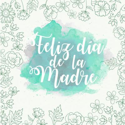 tarjeta imagen dia de la madre acuarela flores