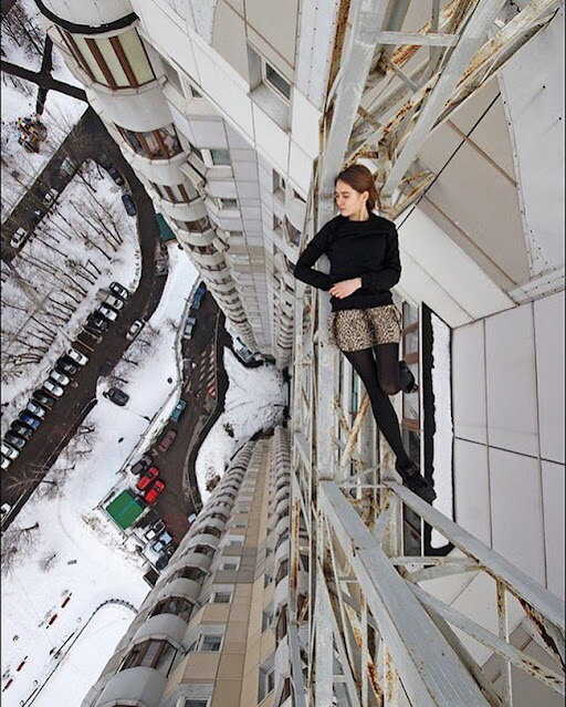 Russian daredevil-Angela Nikolau deadliest, riskies, scariest selfies