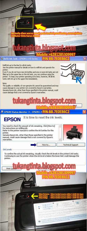 Printer Epson L210 Lampu Power Tinta Dan Kertas Berkedip Bersamaan : printer, epson, lampu, power, tinta, kertas, berkedip, bersamaan, Pusat, Modifikasi, Printer, Infus:, Reset, Manual, Indikator, Tinta, Epson, L110.L120.L210