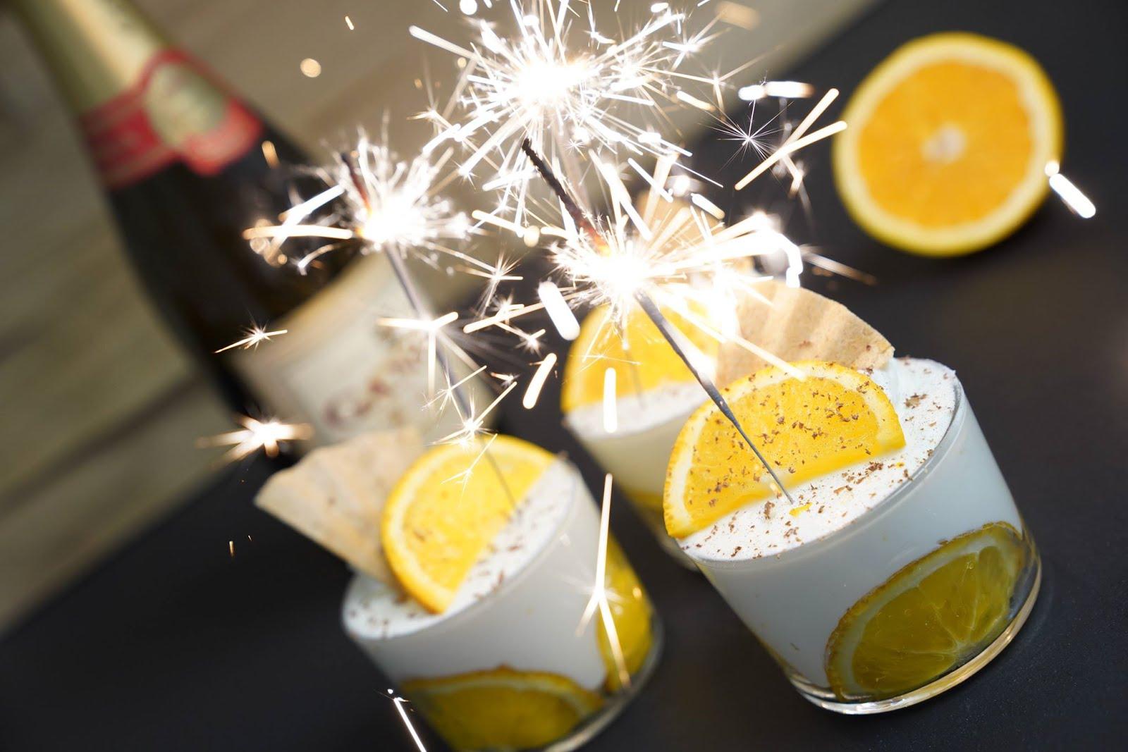 Orangen-Champagner-Dessert von einfach backen