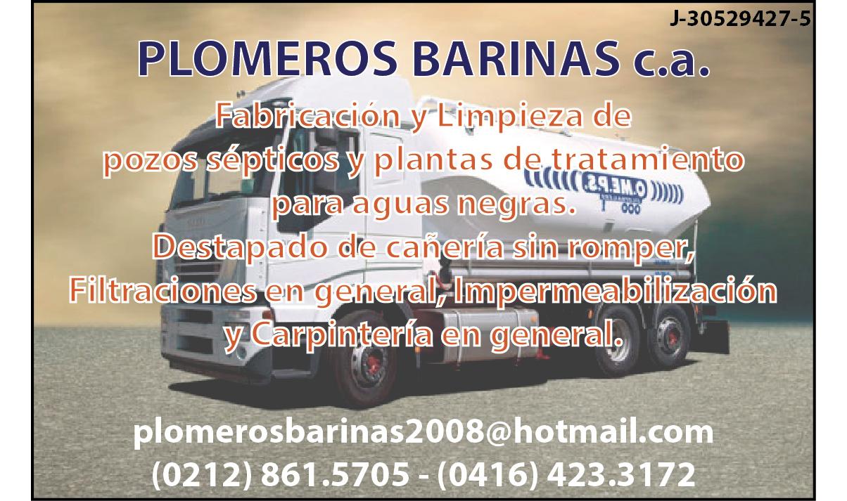 PLOMEROS BARINAS C.A. en Paginas Amarillas tu guia Comercial