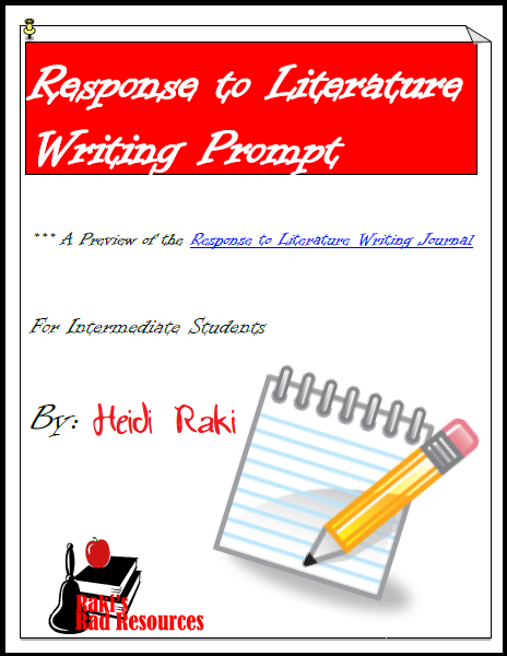 Free response to literature writing prompt from Raki's Rad Resources