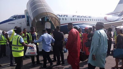 Minister of Transport, Rotimi Amaechi so humble  today at  Murtala Muhammed International Airport today March 15th