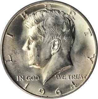 1964 Kennedy Half Dollar Silver Coin