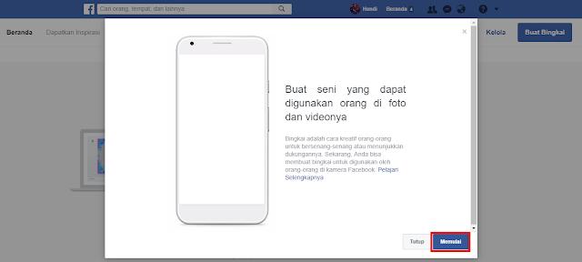 Cara membuat efek bingkai foto dan vidio di facebook
