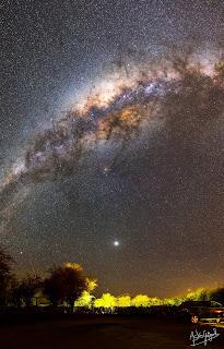 Voie Lactée au-dessus de San Pedro De Atacama