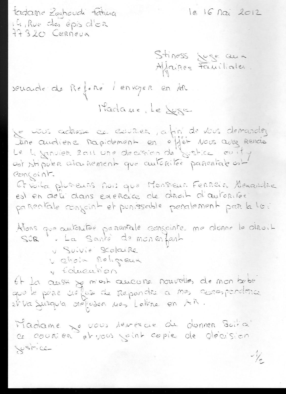 Juge Aux Affaires Familiale Du Tgi De Saint Nazaire 44 Et