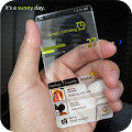 Transparent Launcher - Tema Unik Transparan Android