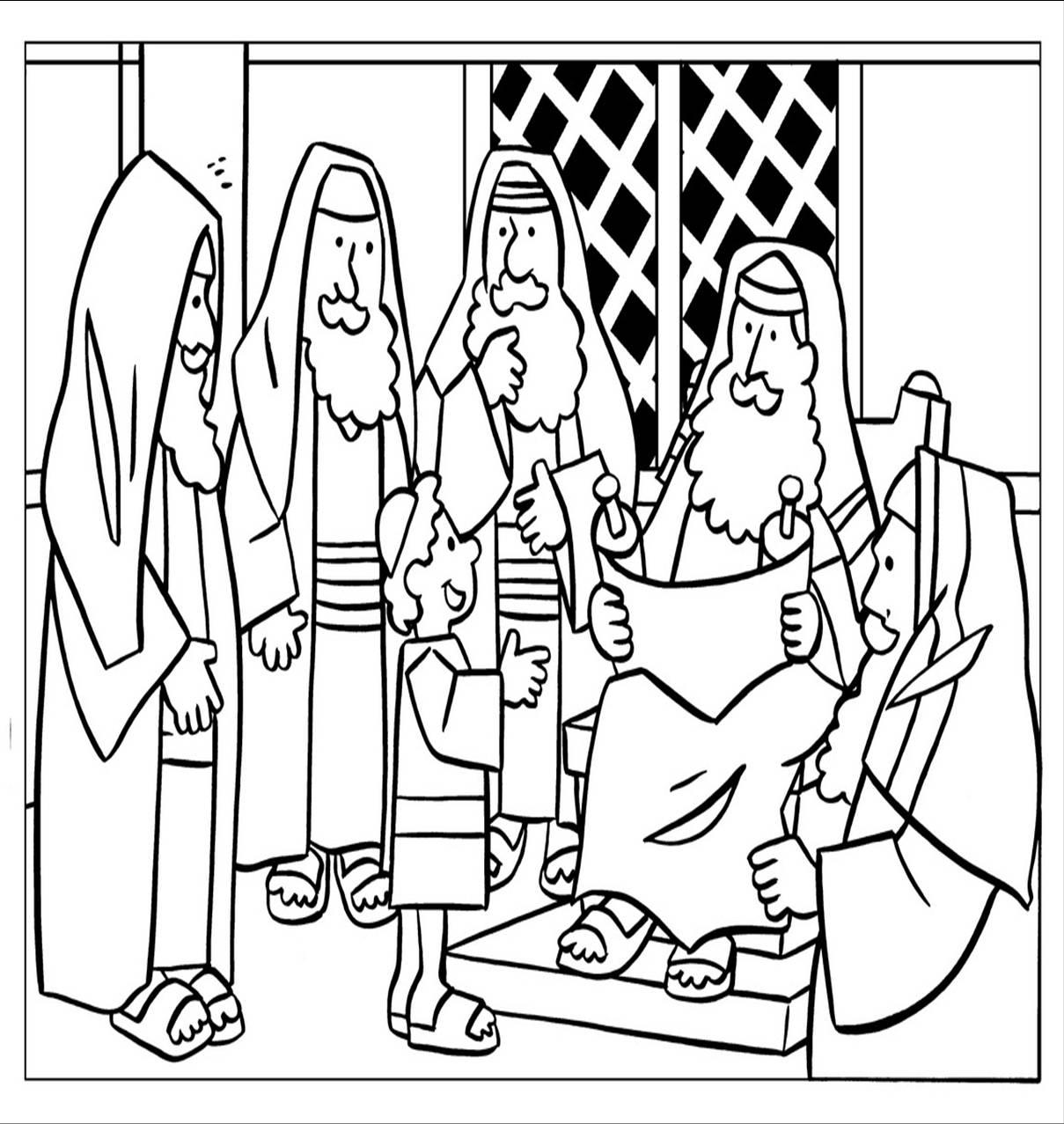 Recursos para mi clase: Manualidad: Jesús visita el templo a los ...