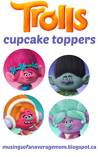 free trolls cupcake toppers