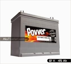 povver akü silver serisi 12 volt 45 amper