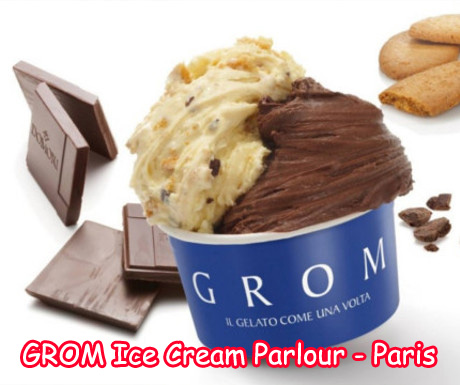 Grom Ice Cream Parlor in Paris