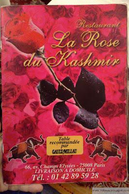 La Rose du Kashmir, intialainen ravintola Pariisissa