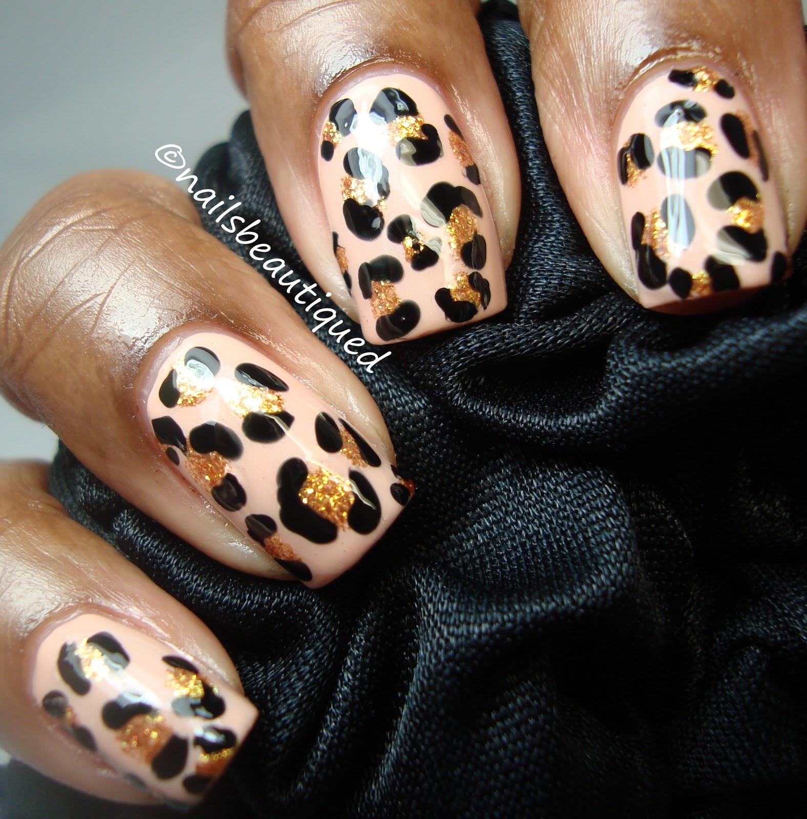 unbitten polish: Pink Wednesday, Leopard Print Nails