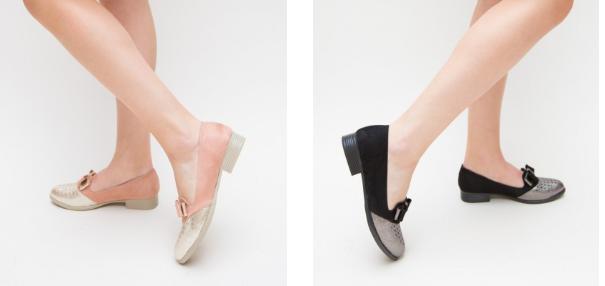 Pantofi Casual Fundi  roz, negri de primavara pentru femei