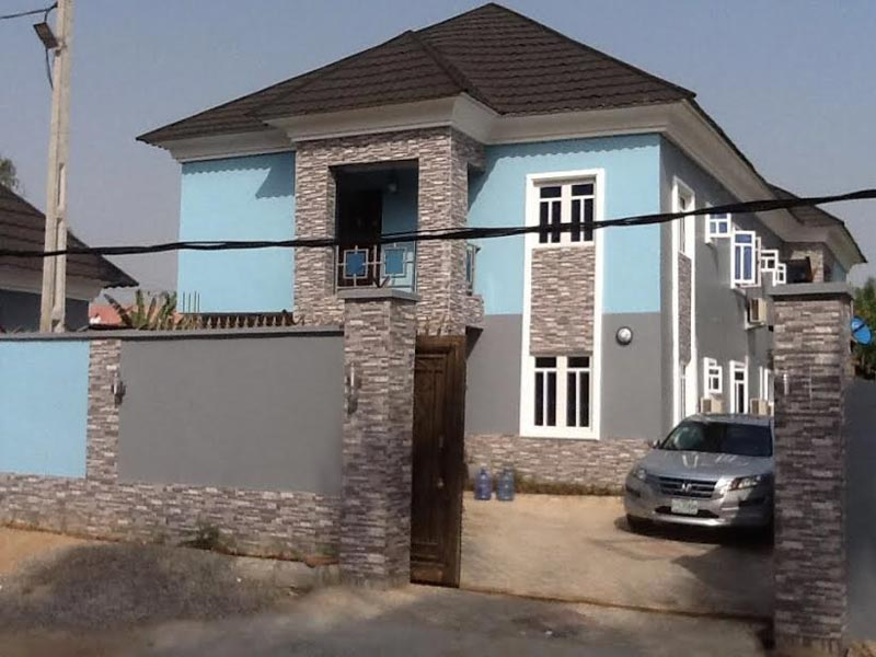 What hardship? Emeka Ossai flaunts his newly completed house