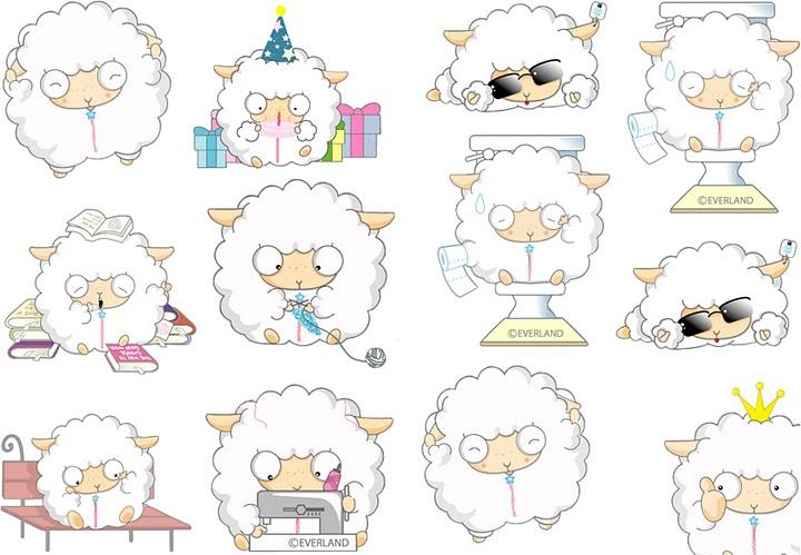 pegatinas de ovejas para imprimir-Imágenes y dibujos para ...