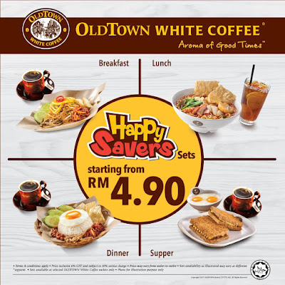 OLDTOWN White Coffee Malaysia Happy Savers Sets Discount Offer Promo
