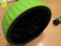 Rad oben: AB-Roller / Bauchtrainer / Bauch Roller »TheBodyWheel« / Ideal für Schulter-, Rücken- und Bauchmuskeltraining / zerlegbar, Farbe grün