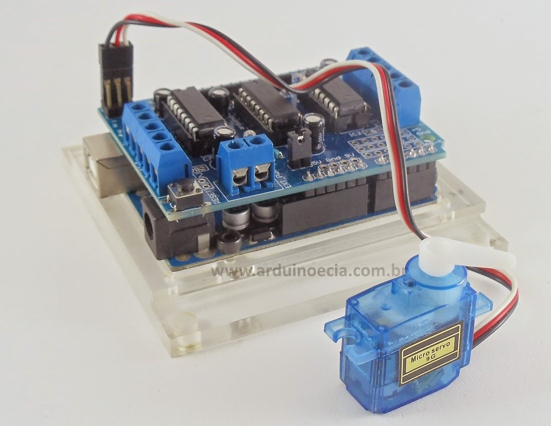 how to connect servo motor to arduino