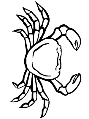 Gambar Mewarnai Kepiting - 10