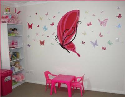 Decora el hogar decora habitaciones chicas con mariposas - Mariposas decoracion pared ...