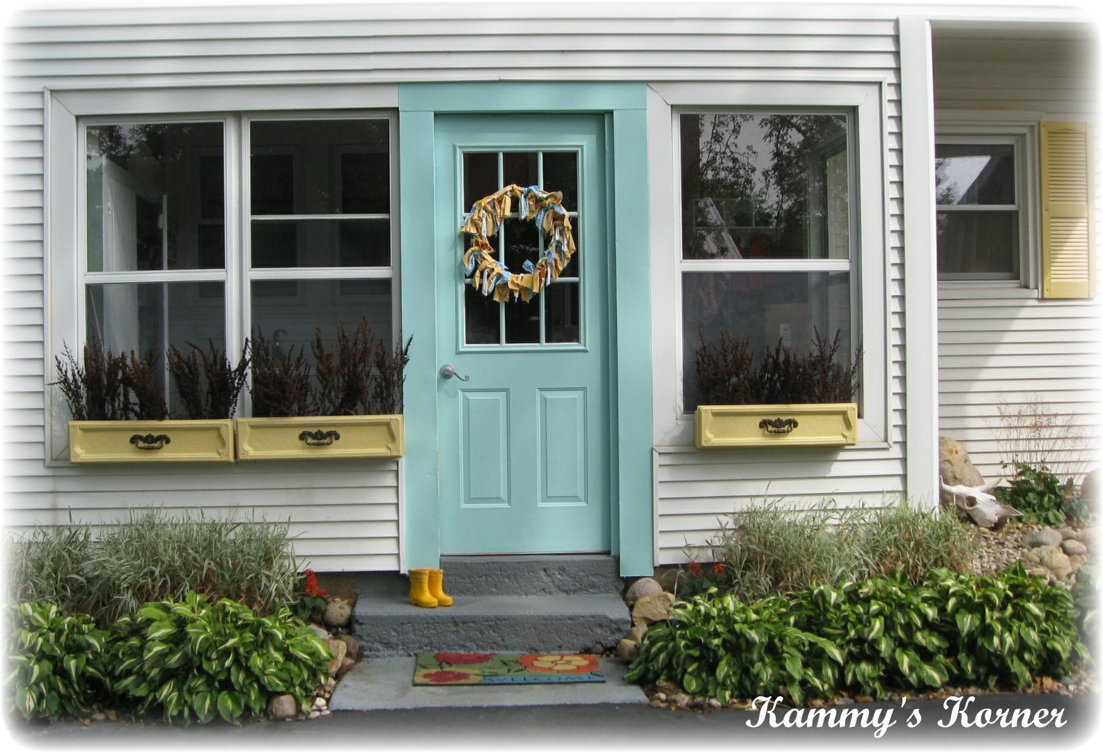 Kammy S Korner My Outdoor Aqua Door