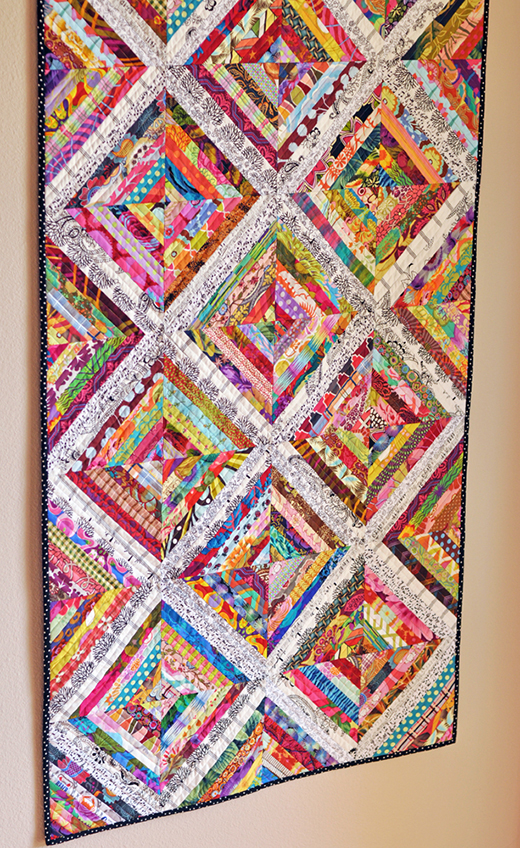 Scrappy String Quilt made by Quilternity's Place, The Tutorial by Film in the Fridge
