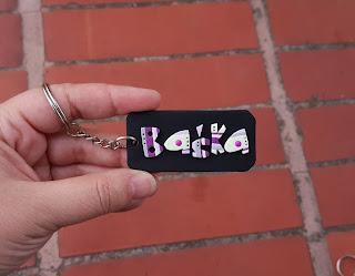 keychain, breloczki, imienne, basia, barbara, z imieniem, imiona, strips, paski, kolorowe