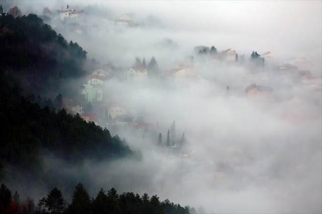 Σκοπιανό τοπίο στην ομίχλη…