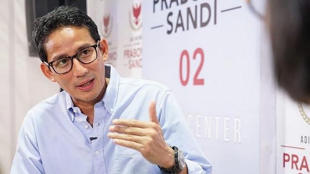 Sandiaga Uno: Kebocoran Yang Disampaikan Prabowo Mendapat Pengakuan Dari Kabinet
