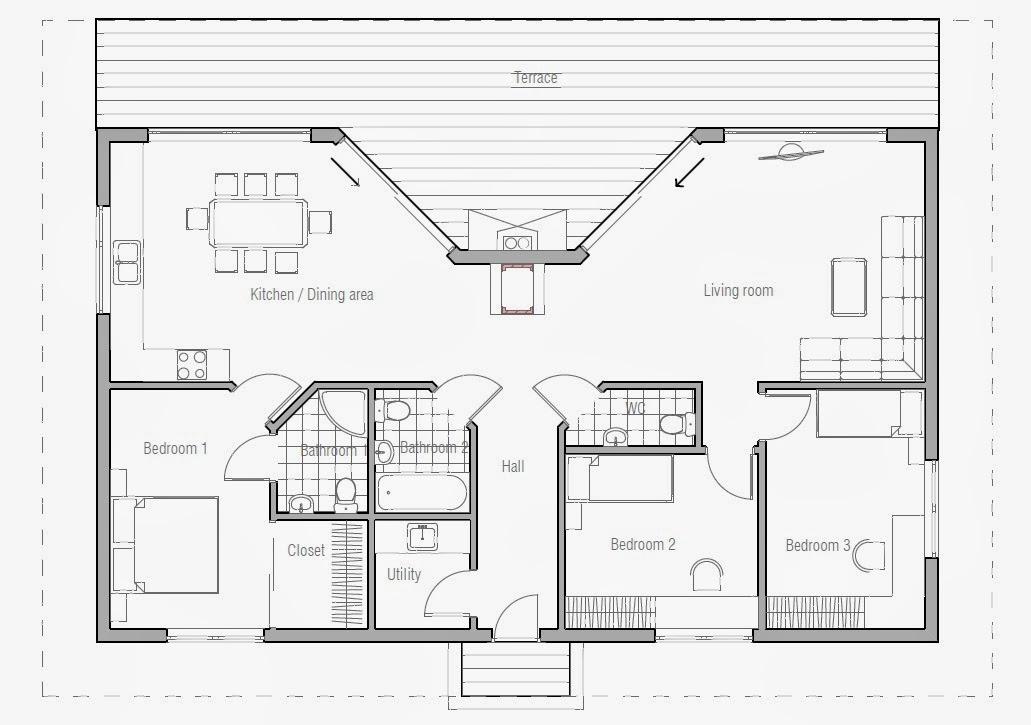Australian House Plans Small Australian House Plan Ch61