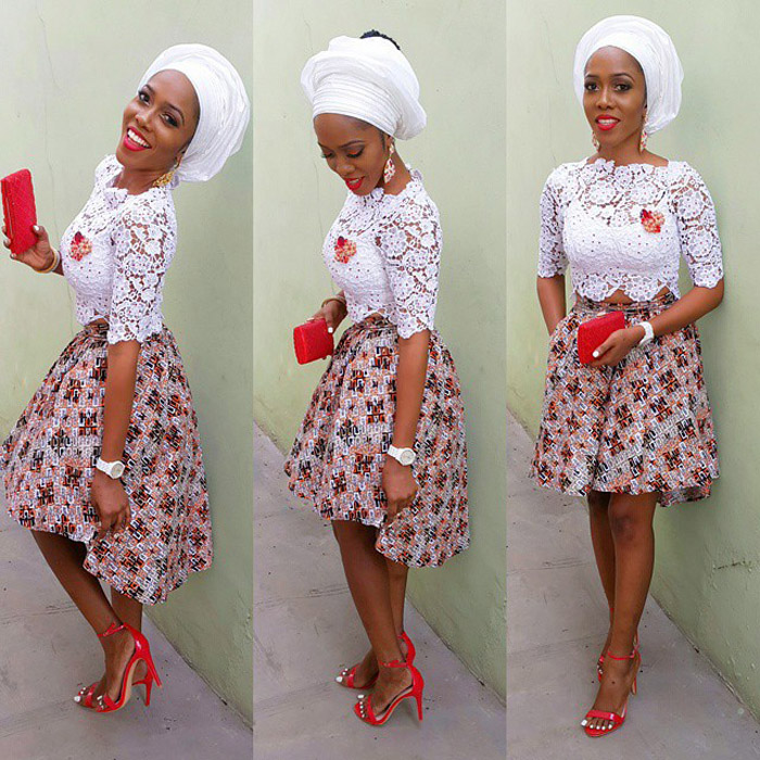 plain and pattern ankara gown (6)