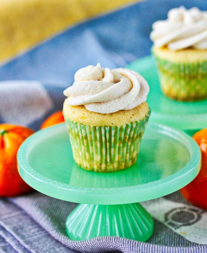 Mini orange vanilla cupcakes