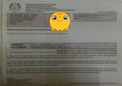 Boleh masuk Arkib Politeknik Malaysia