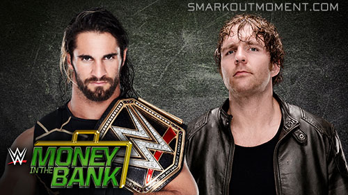 WWE Money in the Bank 2015 Ambrose vs Rollins ladder match
