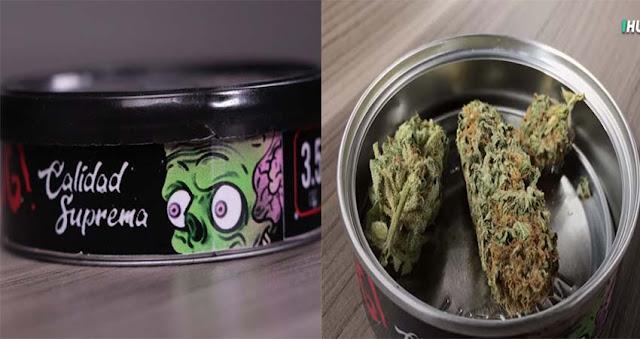 VIDEO; Lo nuevo de los cárteles en México, ya venden mariguana gourmet en lata