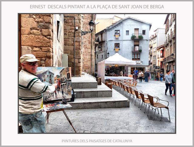 BERGA-PINTURA-PAISATGES-CATALUNYA-PLAÇA DE SANT JOAN-FOTOS-QUADRES-ARTISTA-PINTOR-ERNEST DESCALS-